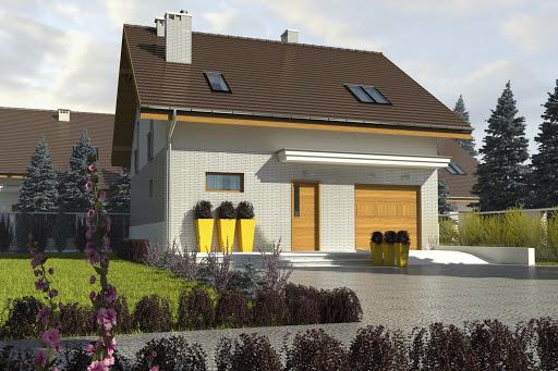 projekt Radosna z garażem 1-st. A