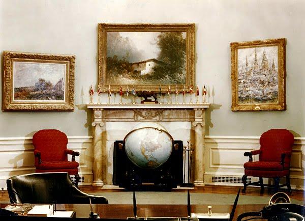 cote de texas: president trump's new oval office decor