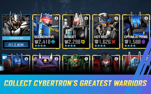 Mod Game TRANSFORMERS: Forged to Fight for Android