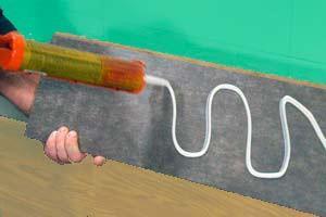 крепление ламината на клей