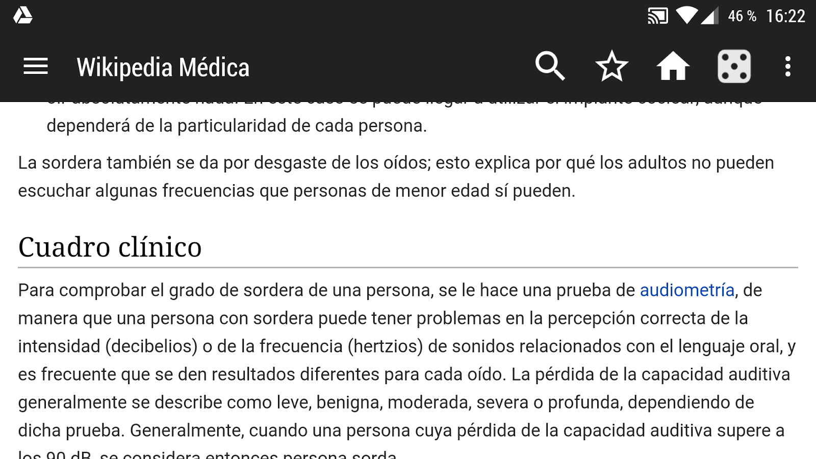 Wikipedia Médica (Offline)- screenshot