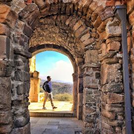 framed by Leyon Albeza - Instagram & Mobile iPhone ( alone, cobblestone, destination, tourism, arch )