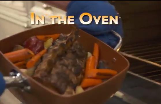 Copper Chef in the oven