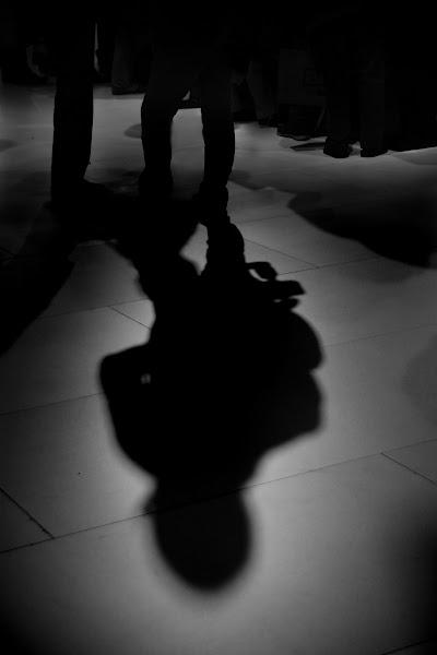 Photo: Photographer shadows at the Nikon booth