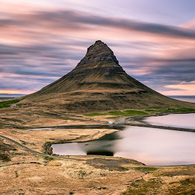 .... by Ruslan Stepanov - Landscapes Mountains & Hills ( clouds, kirkjufell, iceland, mountains, sunset, long exposure, ocean )