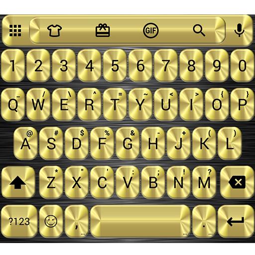 Metallic Gold Emoji Keyboard