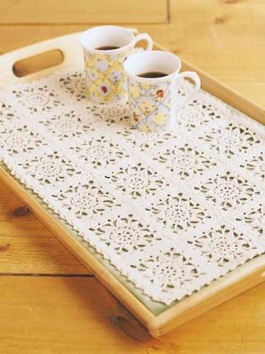 DIYのかぎ針編みマット