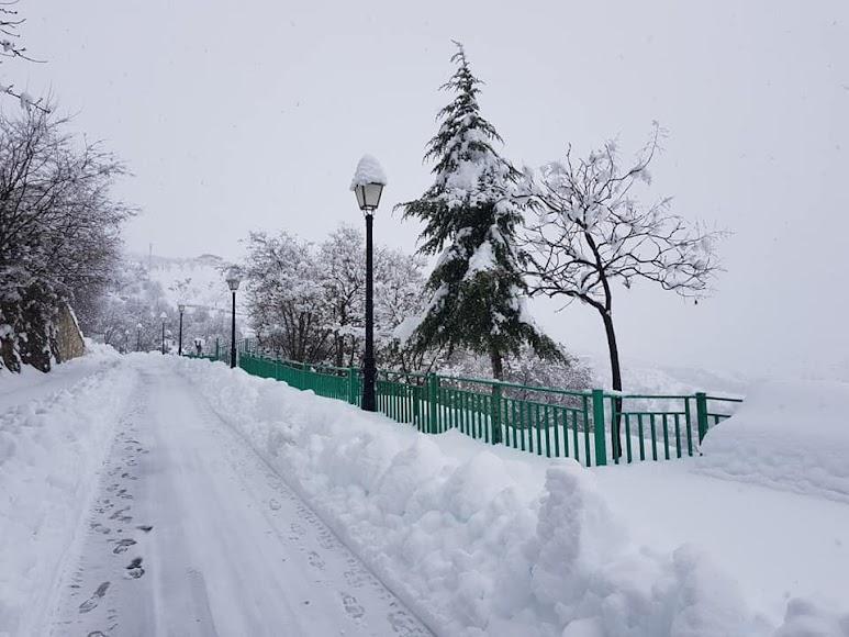 Primera nevada del año en Bacares. /Foto: Ayto. Bacares