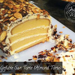 Gefulte San Torte - Stuffed Almond Pound Cake