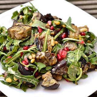 Grilled Eggplant Salad Recipe with Lemon-Tahini Dressing