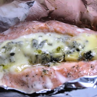 Salmon With Blue Cheese En Papillote