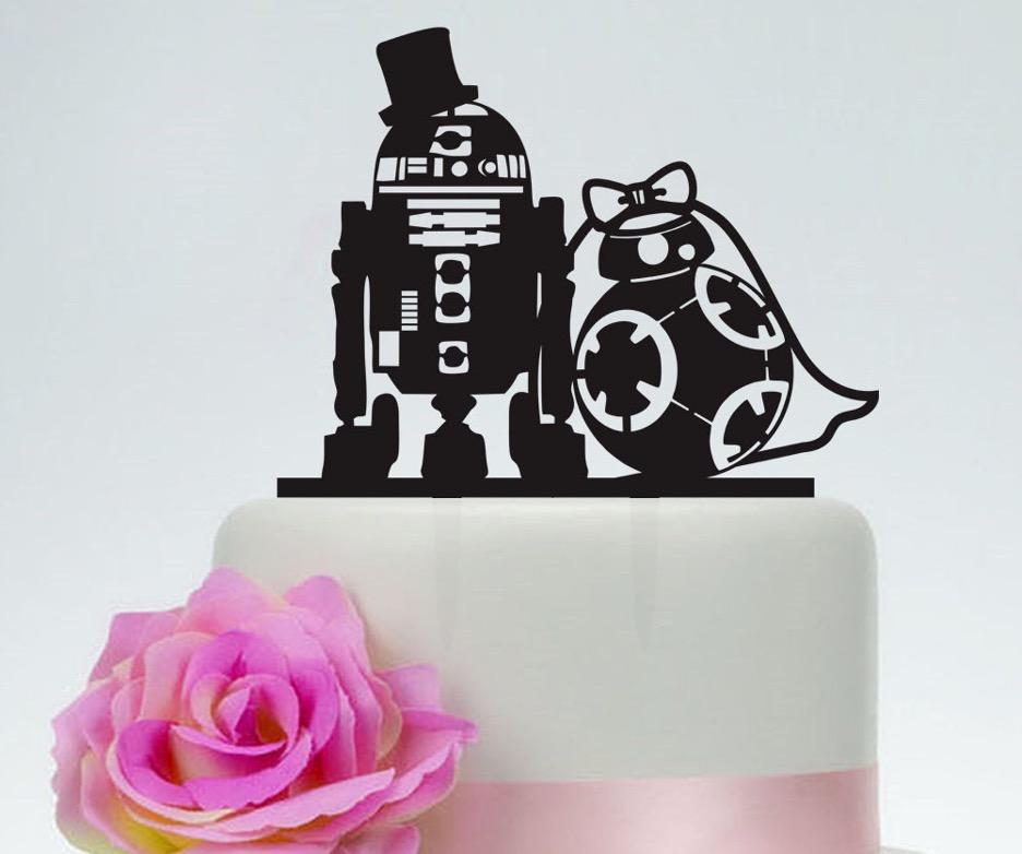star wars funny wedding cake topper