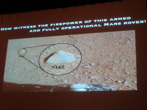 Photo: Plait covered Mars Curiosity... definitely one of the funniest talks of the day!
