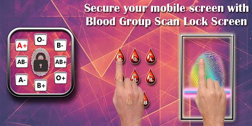 Blood Group Lock Screen Prank