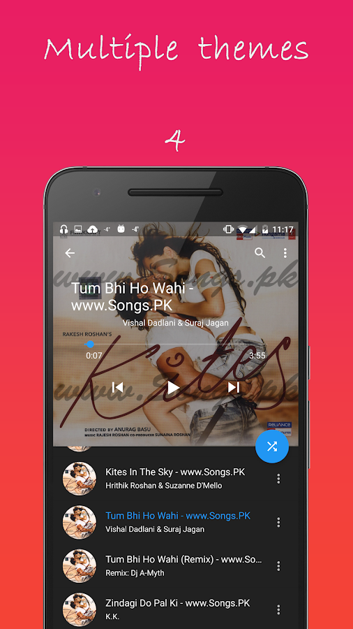Material Music player- screenshot