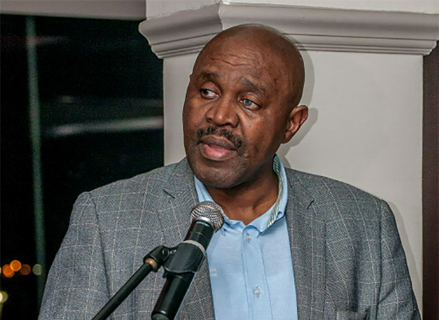 Stephen Dondolo, chief executive of the African Pioneer Group, which pioneered the Limited Payout Machines gambling sector in the Eastern Cape, addressed site owners and other dignitaries at the Pioneer Slots Site Owners Awards Dinner in Port Elizabeth last night