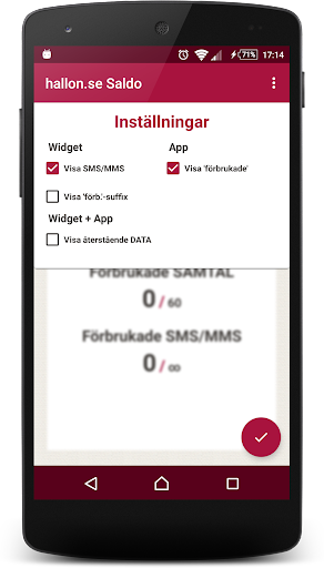 hallon.se Saldo (inofficiell) app (apk) free download for Android/PC/Windows screenshot