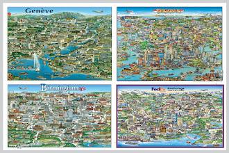 Photo: Old City Character Prints from the early years: Geneva switz-1981 Birmingham, UK-1984 Singapore- 1991 Anchorage, Alaska-2001
