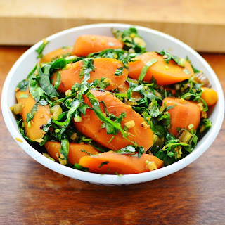 Easy oriental Swiss chard and carrot
