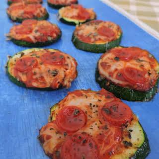 Mini Zucchini Pizzas.