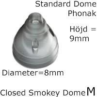 Closed Smokey Dome M 1-Pack - Phonak 054-1991