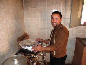 Photo: Taxi driver, Ayman, is cooking for us