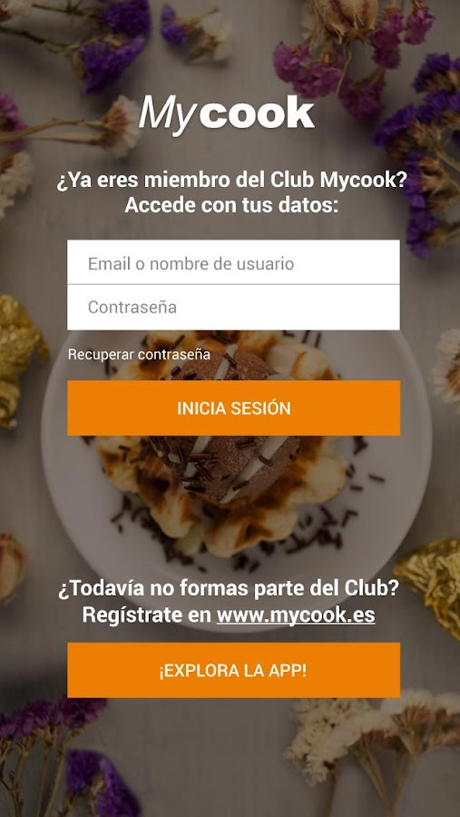 Mycook: captura de pantalla