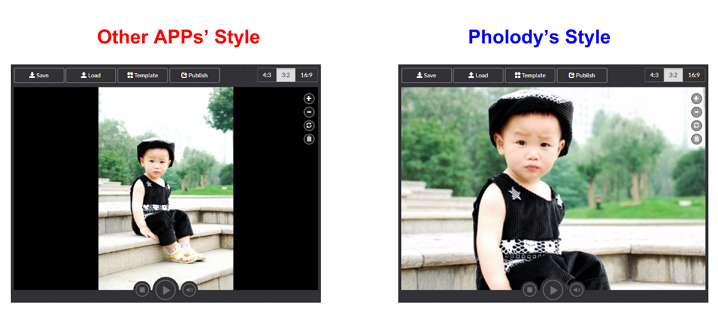 Comparison of Pholody and other photo slideshow maker