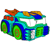 Futuristic Cars Color by Number: Vehicles Coloring