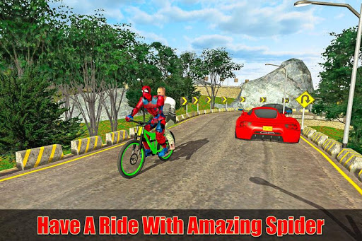 Super Hero BMX Bicycle Taxi Driving