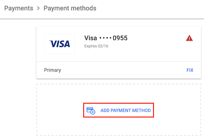 billing add payment method