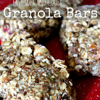 Easy Soft and Gooey Granola Bars