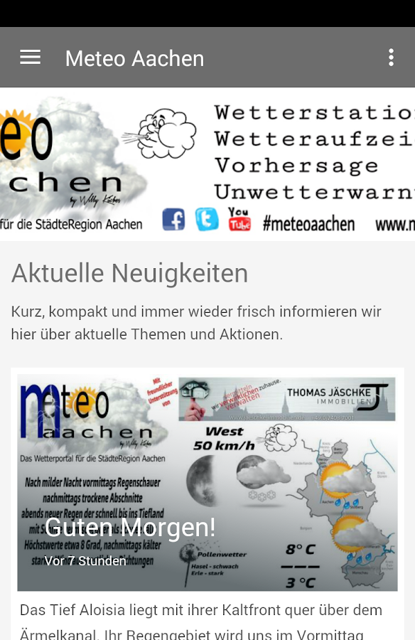 meteo aachen – Screenshot