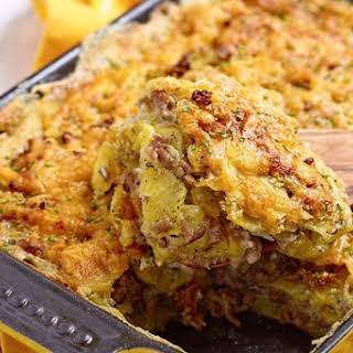 Beef And Potato Scramble Casserole.