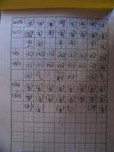 Photo: baby son, warrenzh 朱楚甲's homework: handwriting Chinese charactors