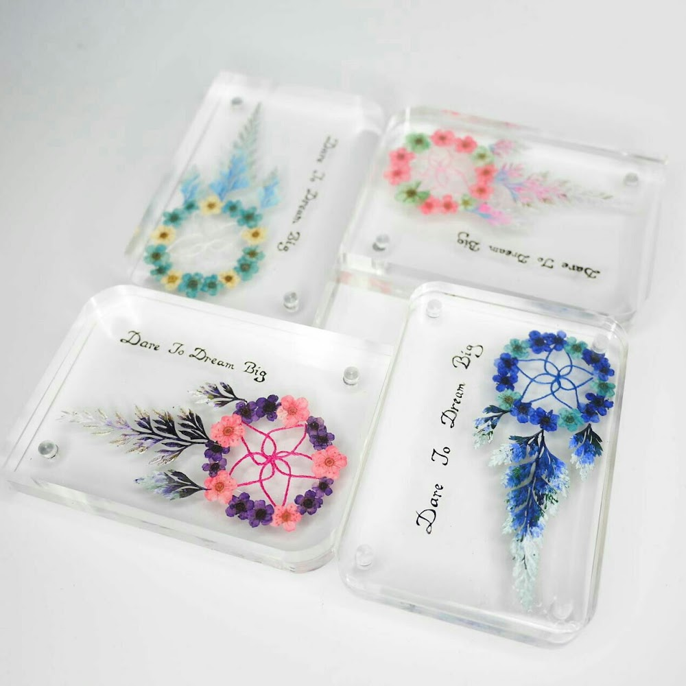 [訂製/custom-made] Dreamcatcher/Cartoon Pressed Flower Paperweight