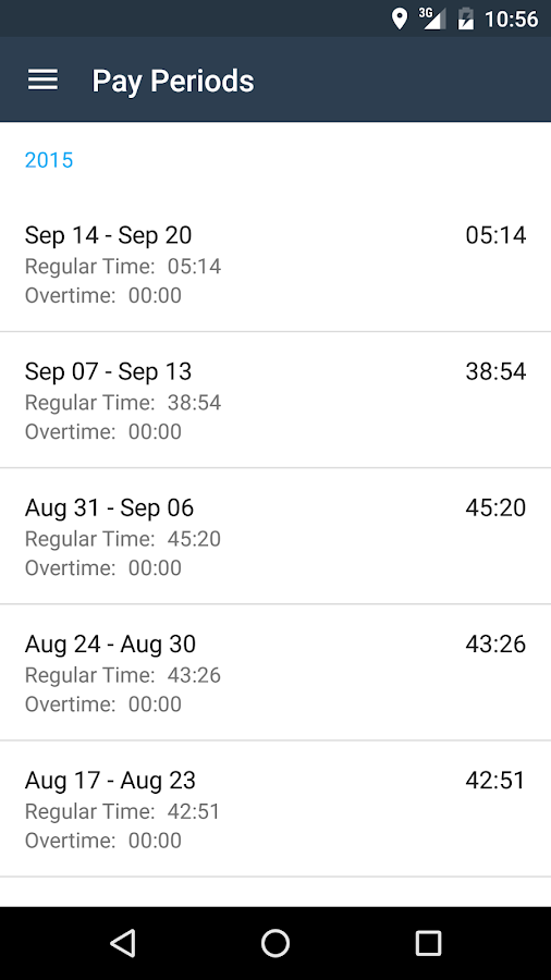 busybusy Time Tracking- screenshot