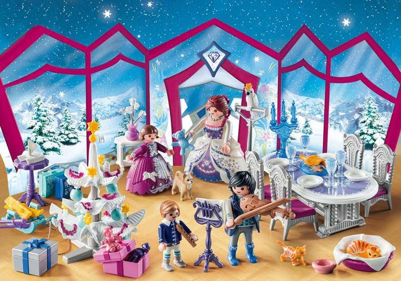 """Contenido real de Playmobil® 9485 Calendario de Adviento- """"Baile de Navidad en el Salón de Cristal"""""""
