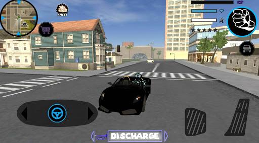 Neon Iron Stickman Rope Hero City Gangstar Mafia screenshot 4