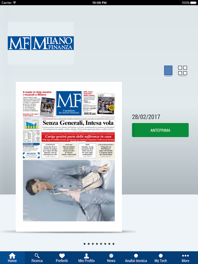MF Milano Finanza Digital- screenshot