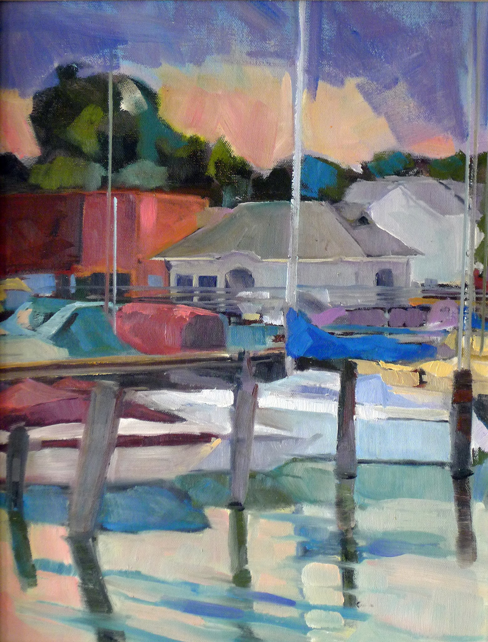 Photo: Moorings, 14X18, oil on canvasboard.