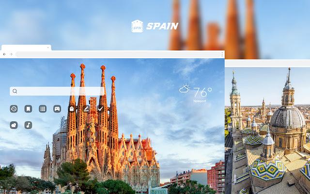 Spain HD Wallpaper New Tab Theme