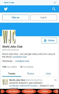 World Jobs Club- screenshot thumbnail