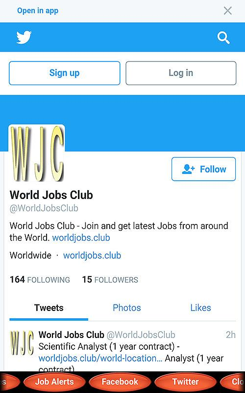 World Jobs Club- screenshot