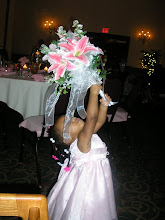 Photo: Kaleya playing with a bouquet
