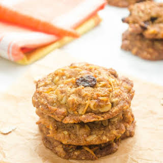 Coconut Oil Carrot Oatmeal Cookies.