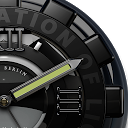 Black Titan HD Clock Widget