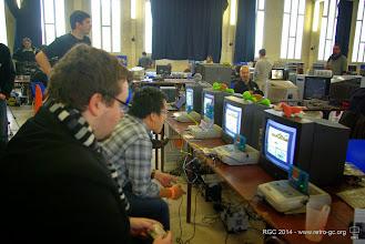 Photo: Concours F1 Race sur Game Boy. Utilisation du Game Boy Player 2 sur Super Nintendo