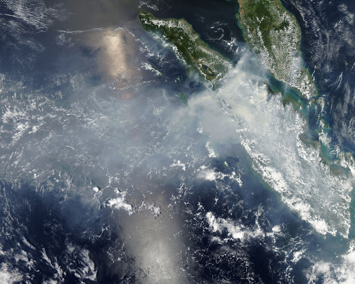 Smoke and fires from Sumatra