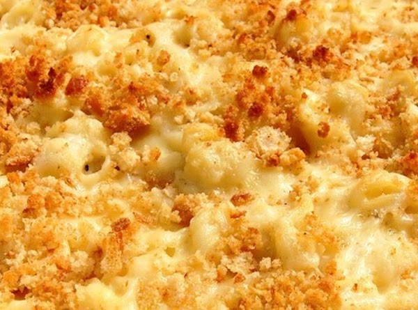 Fried Onion Topped Macaroni And Cheese Recipe